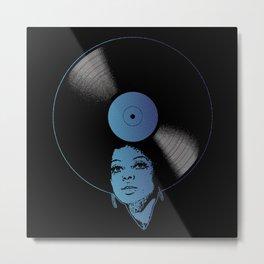 Afrovinyl (Kinda Blue) Metal Print