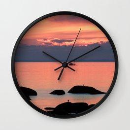 Silhouette Fishing Wall Clock