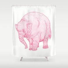 Pink Elephant Shower Curtain