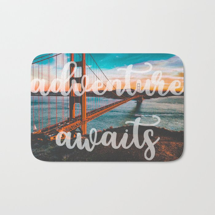 ADVENTURE AWAITS San Francisco Bath Mat