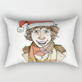 Tom Baker Doctor who christmas special. Rectangular Pillow