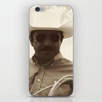 cowboy iPhone & iPod Skins featuring Cowboy by DistinctyDesign