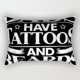 Baddass Dads Have Tattoos And Beards Ink Tattooing Rectangular Pillow