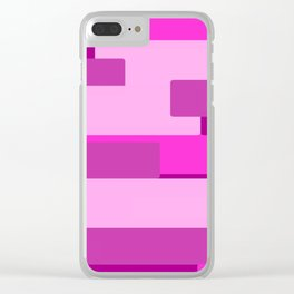Pink Abstract Pattern Clear iPhone Case