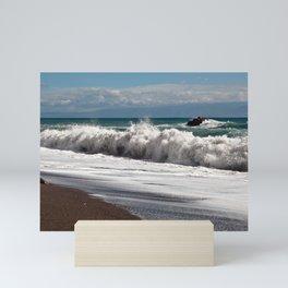 Magic Waves on the Isle of Sicily Mini Art Print