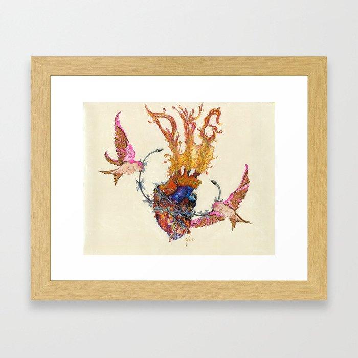drop kick gorgeous swallows Framed Art Print