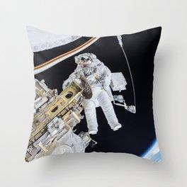 Spacewalk Throw Pillow