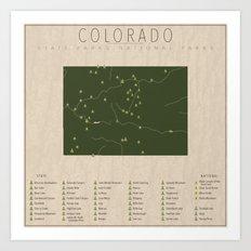 Colorado Parks Art Print