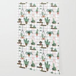 Modern Succulents Wallpaper