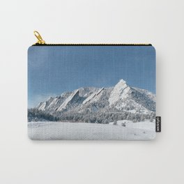 Snowy Flatirons Carry-All Pouch