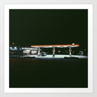 Gas Station, Queens, NY Art Print