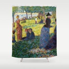 """Georges Seurat """"Oil Sketch for La Grande Jatte"""" Shower Curtain"""