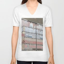 Architectural Detail Wall, Salvage, Old building, Chicago Unisex V-Neck