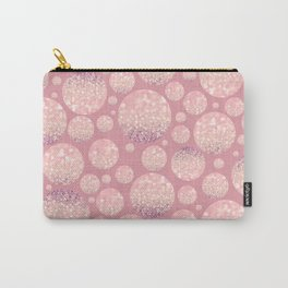 Blushing Bokeh Dots Carry-All Pouch
