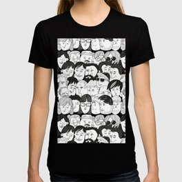 Colorful People Faces Pattern T-shirt