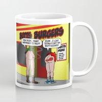 butt Mugs featuring KICK BUTT! by SCREAMNJIMMY