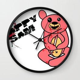Happy same the goru kawaii bear Wall Clock