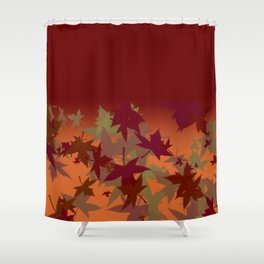 Colors of Fall Design Shower Curtain