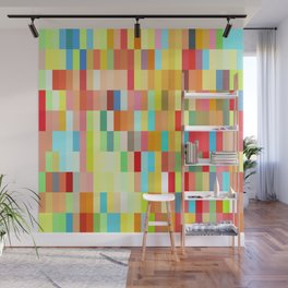 colorful rectangle grid Wall Mural