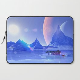Exploring an Ice Planet Laptop Sleeve