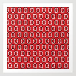 "Chevron Block ""O"" Tile Art Print"