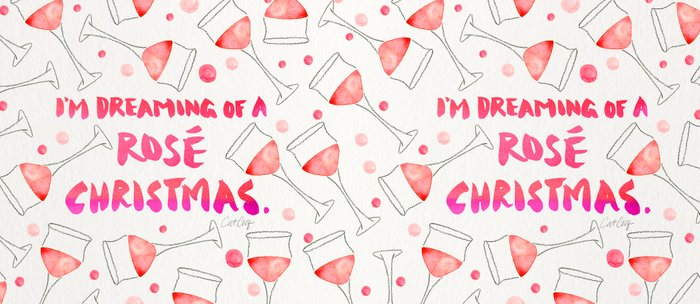 Rosé Christmas – Glass Pattern Coffee Mug
