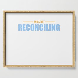 Accountant Accounting Reconciling Profession Gift Serving Tray