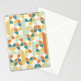 Mid Century Modern Geometric Pattern 1950s Colors Stationery Cards