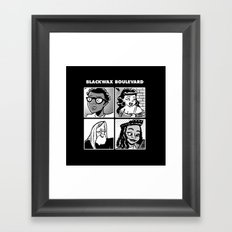 Blackwax Boulevard Album Cover  Framed Art Print
