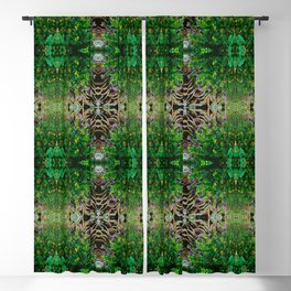 Cocoplum and Cattails op nature pattern Blackout Curtain
