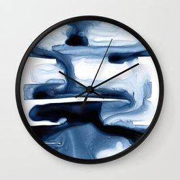 Indigo Flow no. 1 Wall Clock