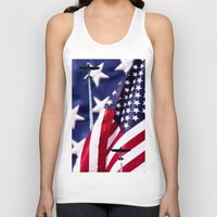 america Tank Tops featuring America by TexasArt
