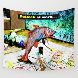 Pollock at Work Wall Tapestry