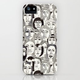 Faces in the Tube iPhone Case