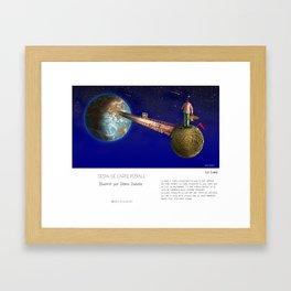 """""""La Lune"""" en Mots & Image illustré par Denis Dubois (French Touch) Framed Art Print"""