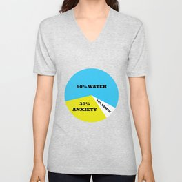 Water Anxiety Human Percent Aesthetic Unisex V-Neck