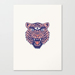 Third Eye Tiger Canvas Print