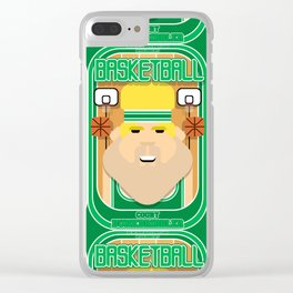 Basketball Green - Court Dunkdribbler - Sven version Clear iPhone Case