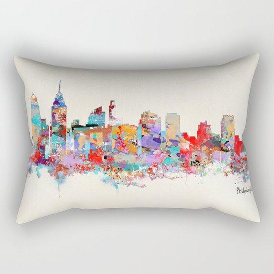 Philadelphia Pennsylvania skyline Rectangular Pillow