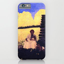 African American Masterpiece 'Cabin in the Cotton No 2, Twilight' by Horace Pippen iPhone Case