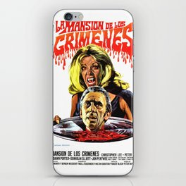 The House That Dripped Blood, La Mansion de los crimenes, vintage horror movie poster iPhone Skin