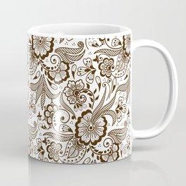 Mehndi or Henna Flowers and Leaves Coffee Mug