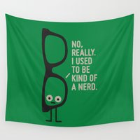nerd Wall Tapestries featuring Nerd Is the New Black by David Olenick