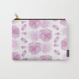 Pink Floral Pattern #1 #drawing #decor #art #society6 Carry-All Pouch
