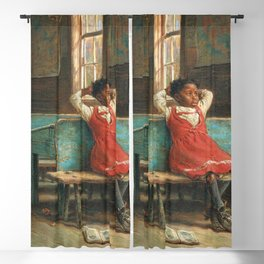 African American Masterpiece Portrait 'Kept In' by Edward Lamson Henry Blackout Curtain