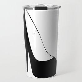 Stiletto Heel Silhouette Travel Mug