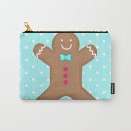 Yummy Gingerbread Man Cookie Carry-All Pouch