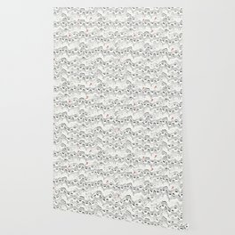 Wavy Musical Pattern Wallpaper