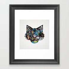 The Creative Cat (color varient) Framed Art Print
