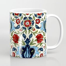 Mediterranean Tile with Carnations Coffee Mug